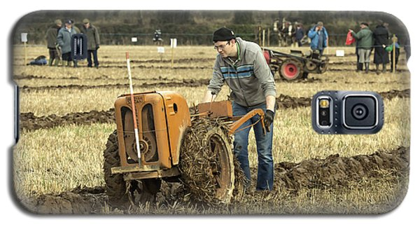 Galaxy S5 Case featuring the photograph Hand Held Tractor Plough by Roy McPeak