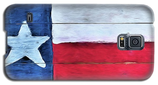 Hand Painted Texas Flag Galaxy S5 Case