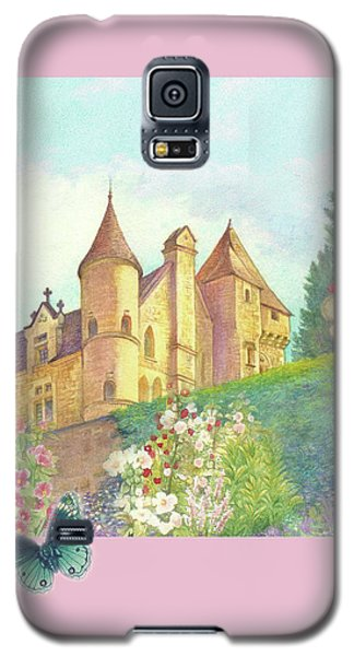 Handpainted Romantic Chateau Summer Garden Galaxy S5 Case
