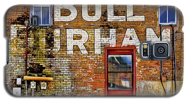 Galaxy S5 Case featuring the photograph Handpainted Sign On Brick Wall by David and Carol Kelly