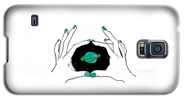 Hands Around Saturn Galaxy S5 Case