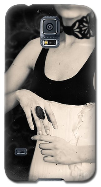 Galaxy S5 Case featuring the photograph Hands Of A Young Girl With A Ring. by Andrey  Godyaykin