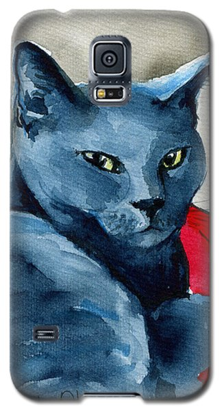 Handsome Russian Blue Cat Galaxy S5 Case