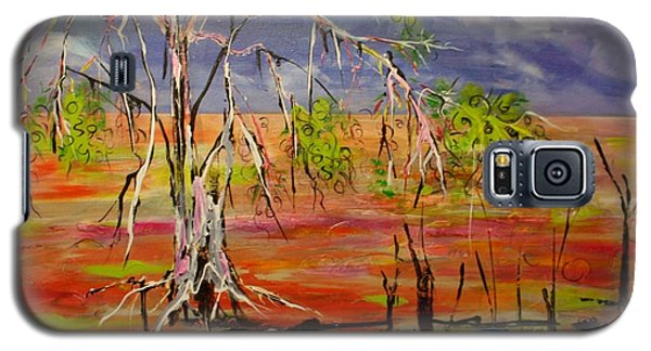 Galaxy S5 Case featuring the painting Hanging On by Lyn Olsen