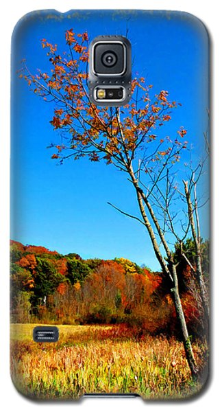 Galaxy S5 Case featuring the photograph Hanging On To Autumn by Joan  Minchak