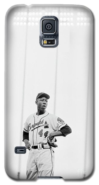 Hank Aaron On The Field, 1958 Galaxy S5 Case by The Harrington Collection
