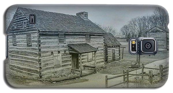 Galaxy S5 Case featuring the digital art Hannastown Log Cabin Two by Randy Steele