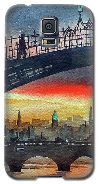 Hapenny Bridge Sunset, Dublin...27apr18 Galaxy S5 Case