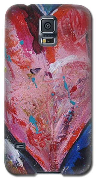 Galaxy S5 Case featuring the painting Happiness by Diana Bursztein