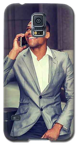 Happy African American Businessman Working In New York 15082323 Galaxy S5 Case