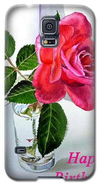 Happy Birthday Card Rose  Galaxy S5 Case