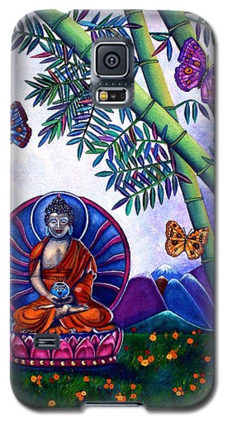 Galaxy S5 Case featuring the painting Happy Buddha And Prosperity Bamboo by Lori Miller