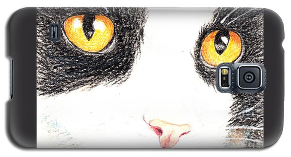 Happy Cat With The Golden Eyes Galaxy S5 Case