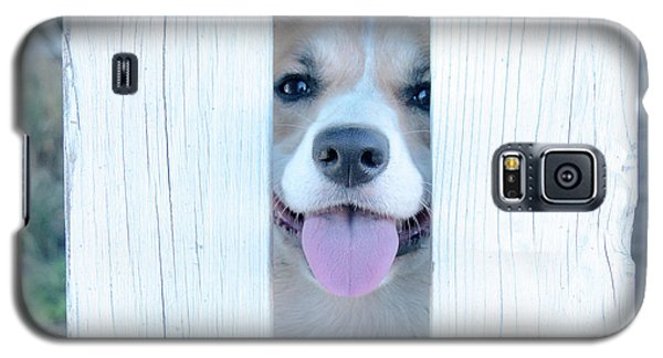 Happy Corgi Galaxy S5 Case by Mick Anderson