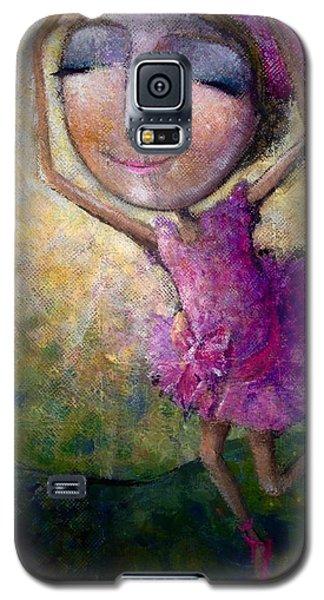 Galaxy S5 Case featuring the painting Happy Dance by Eleatta Diver