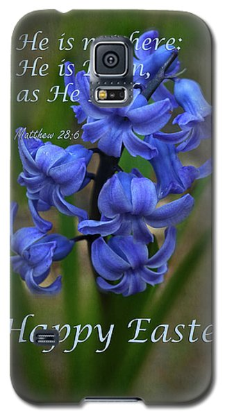 Galaxy S5 Case featuring the photograph Happy Easter Hyacinth by Ann Bridges