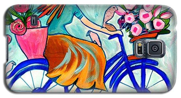 Happy Flower Lady Galaxy S5 Case