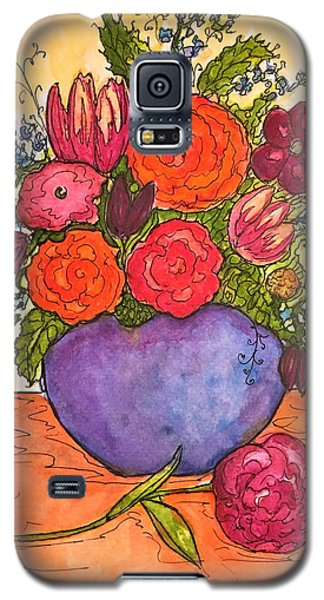 Happy Flowers Galaxy S5 Case