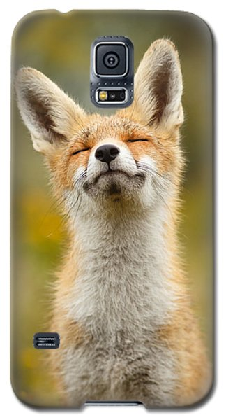 Happy Fox Galaxy S5 Case by Roeselien Raimond