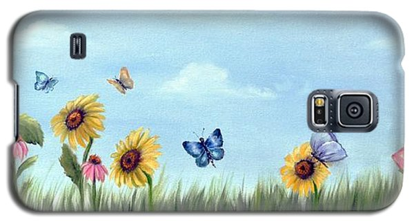 Galaxy S5 Case featuring the painting Happy Garden by Carol Sweetwood