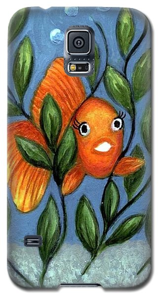 Happy Goldfish Galaxy S5 Case by Sandra Estes