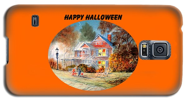 Galaxy S5 Case featuring the painting Happy Halloween by Bill Holkham
