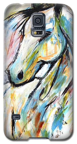 Galaxy S5 Case featuring the painting Happy Heart by Cher Devereaux