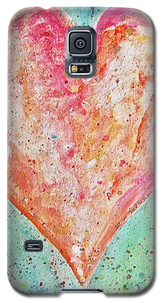 Galaxy S5 Case featuring the painting Happy Heart by Diana Bursztein