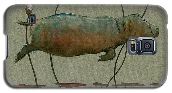 Happy Hippo Swimming Galaxy S5 Case by Juan  Bosco