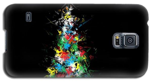Happy Holidays - Abstract Tree - Horizontal Galaxy S5 Case