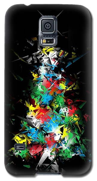 Happy Holidays - Abstract Tree - Vertical Galaxy S5 Case