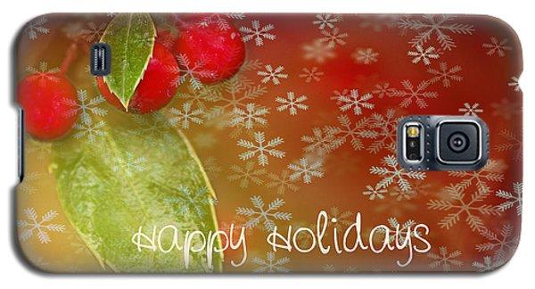 Happy Holidays Galaxy S5 Case by Rebecca Cozart