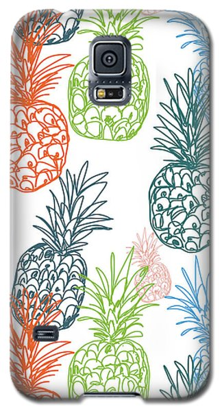 Fruits Galaxy S5 Case - Happy Pineapple- Art By Linda Woods by Linda Woods