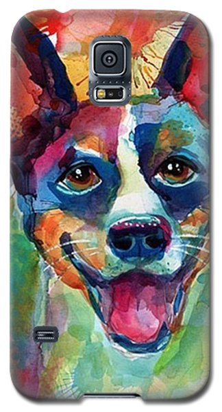 Galaxy S5 Case - Happy Rat Terrier Watercolor Portrait by Svetlana Novikova