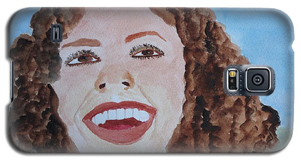 Galaxy S5 Case featuring the painting Happy by Sandy McIntire