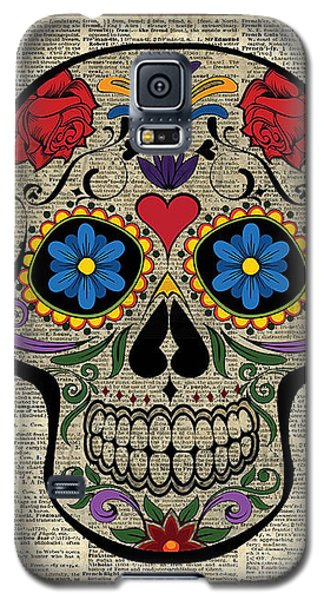 Happy Skull,sugar Skull,dia De Los Muertos,halloween Artwork Galaxy S5 Case