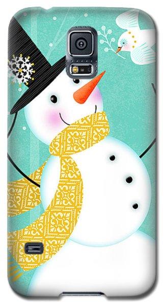 Happy Snowman Galaxy S5 Case