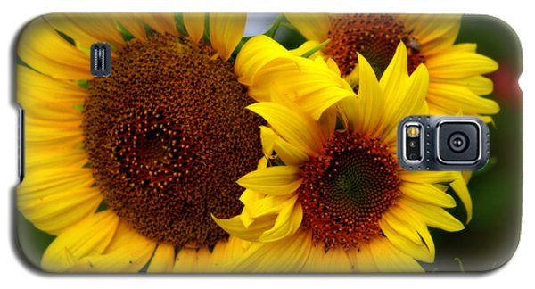 Galaxy S5 Case featuring the photograph Happy Sunflowers by Kay Novy