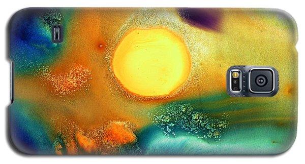 Happy Sunrise Fluid Abstract Art Liquid Painting By Kredart Galaxy S5 Case