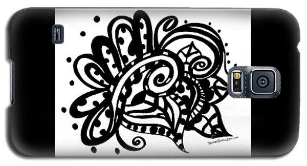 Happy Swirl Doodle Galaxy S5 Case