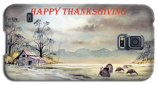 Galaxy S5 Case featuring the painting Happy Thanksgiving  by Bill Holkham