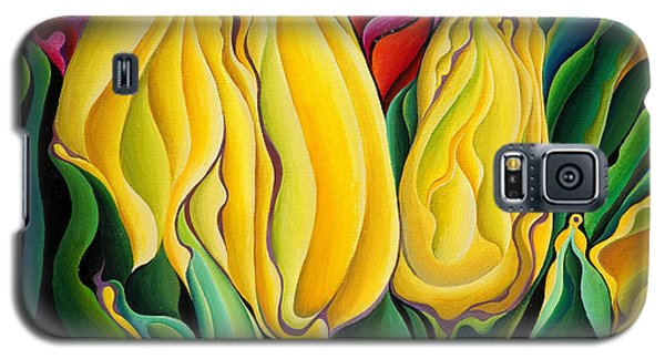 Happy-time Yellow Three-lips Galaxy S5 Case