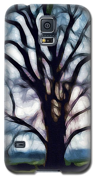 Galaxy S5 Case featuring the digital art Happy Valley Tree by Holly Ethan