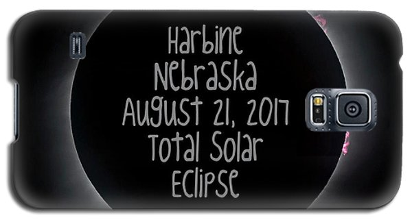 Harbine Nebraska Total Solar Eclipse August 21 2017 Galaxy S5 Case