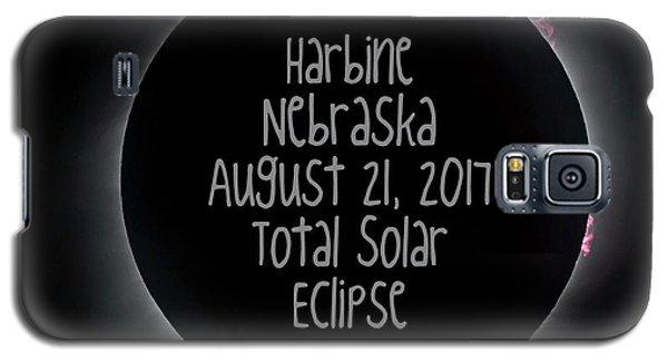 Harbine Nebraska Total Solar Eclipse August 21 2017 Galaxy S5 Case