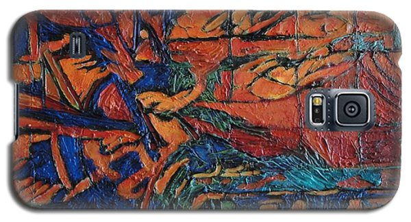 Galaxy S5 Case featuring the painting Harbingers by Bernard Goodman