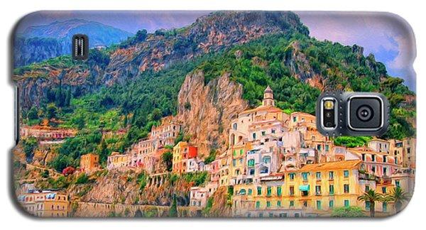 Harbor At Amalfi Galaxy S5 Case by Dominic Piperata