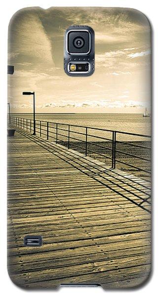 Harbor Beach Michigan Boardwalk Galaxy S5 Case by LeeAnn McLaneGoetz McLaneGoetzStudioLLCcom