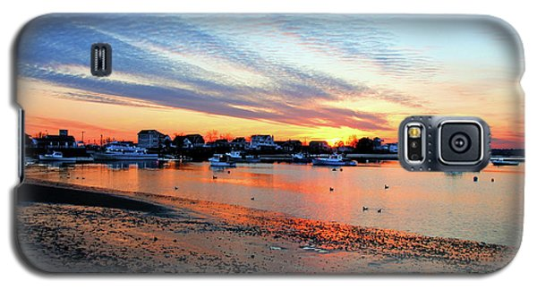 Harbor Sunset At Low Tide Galaxy S5 Case