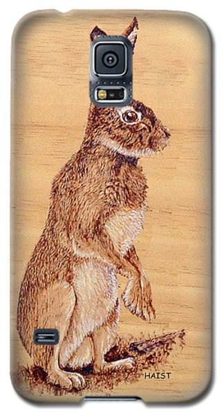 Galaxy S5 Case featuring the pyrography Hare by Ron Haist